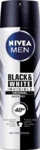 Nivea Men antyperspirant w sprayu Invisible for Black&White 150 ml