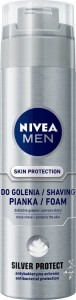 NIVEA MEN Skin Protection SILVER Pianka do golenia 200 ml