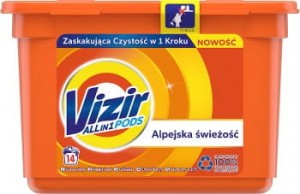 Vizir Alpine Fresh Kapsułki do prania 3in1 14 szt