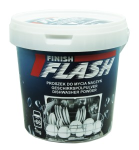 FLASH FINISH proszek do mycia naczyń w zmywarce 66 myć 1000g BESTSELLER!