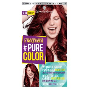 Schwarzkopf Pure Color Farba do włosów w żelu 6.88 Raspberry Red