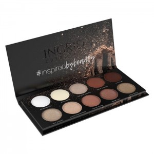 INGRID NUDE MATT AND GLAM Paleta 10 cieni do powiek 25g