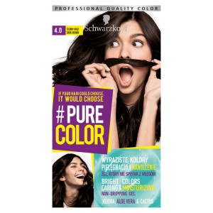 Schwarzkopf Pure Color Farba do włosów w żelu 4.0 Dark Brown